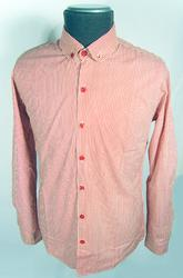 'Hemmingway' -Retro Sixties Round Collar Shirt (R)