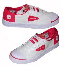 'Borrell-Red' - Indie Dunlop Greenflash Trainers