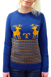 Run Rudolph Run Retro Christmas Jumper by MADCAP B