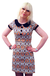 Dollierocker Aztec MADCAP Retro 60s Vintage Dress