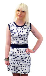 Hitch MADCAP ENGLAND Retro 60s Mod Birds Dress