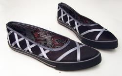 'Portobello' - Womens Retro Sixties Slip On Shoes