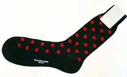 +RICHARD JAMES Retro 60s Polkadot Mod Luxury Socks