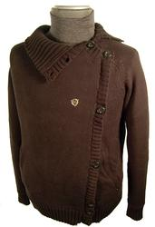 'Road Rage' - Mens Indie Knitted Cardigan by FLY53