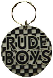 'Rudeboy Check Keyring'