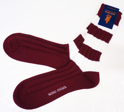 +Scott Nichol Cambridge Retro Mod Rugby Socks (P)