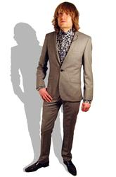 BEN SHERMAN Camden Birdseye Mod Tailored Suit