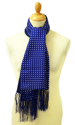 Simon + Simon Wool Backed Mod Polkadot Silk Scarf
