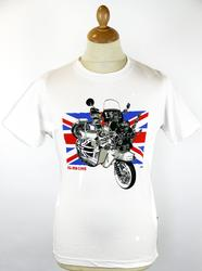 All Mod Cons STOMP Retro Scooter Union Jack Tee