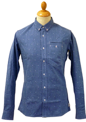 Nowhaus SUPREMEBEING Retro 70s Atom Chambray Shirt
