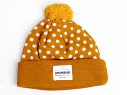 London SUPREMEBEING Retro Polka Dot Bobble Hat G