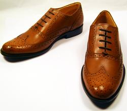 'Wagner' - Retro Brogue Shoes by PAOLO VANDINI