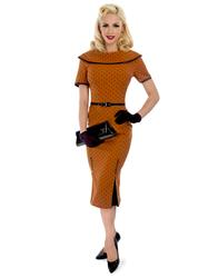 Ice Coffee TATYANA 50s Polka Dot Kick Pleat Dress