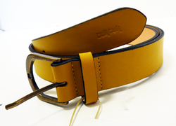 TukTuk Retro Indie Mod Yellow Regular Leather Belt