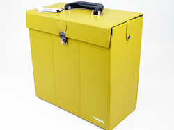 33rpm TukTuk Retro Sixties Mod Record Box (Yellow)