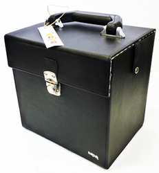 TukTuk Retro Sixties Mod Black 45rpm Record Box
