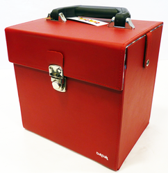TukTuk Retro Sixties Mod Red 45rpm Record Box