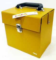 TukTuk Retro Sixties Mod Yellow 45rpm Record Box