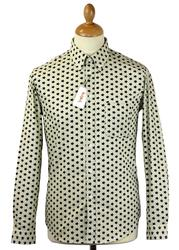 Star Print TukTuk Retro 60s Button Down Mod Shirt