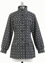 TULLE Women's Retro 60s Mod Standing Collar Jacket