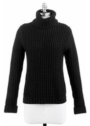 TULLE Women's Retro 60s Chunky Roll Neck Jumper B