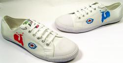 POWER UP MENS INDIE MOD RETRO PLIMSOLLS