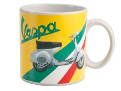 VESPA SCOOTER Retro Mod 60s Scooter Mug (Yellow)