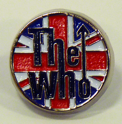 The Who Union Jack Retro 60s Mod Small Pin Badge