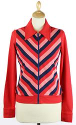 Dance WHO'S THAT GIRL Retro 70s Mod Chevron Jacket
