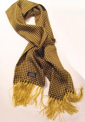 TOOTAL SCARF - Houndstooth Gold/Black