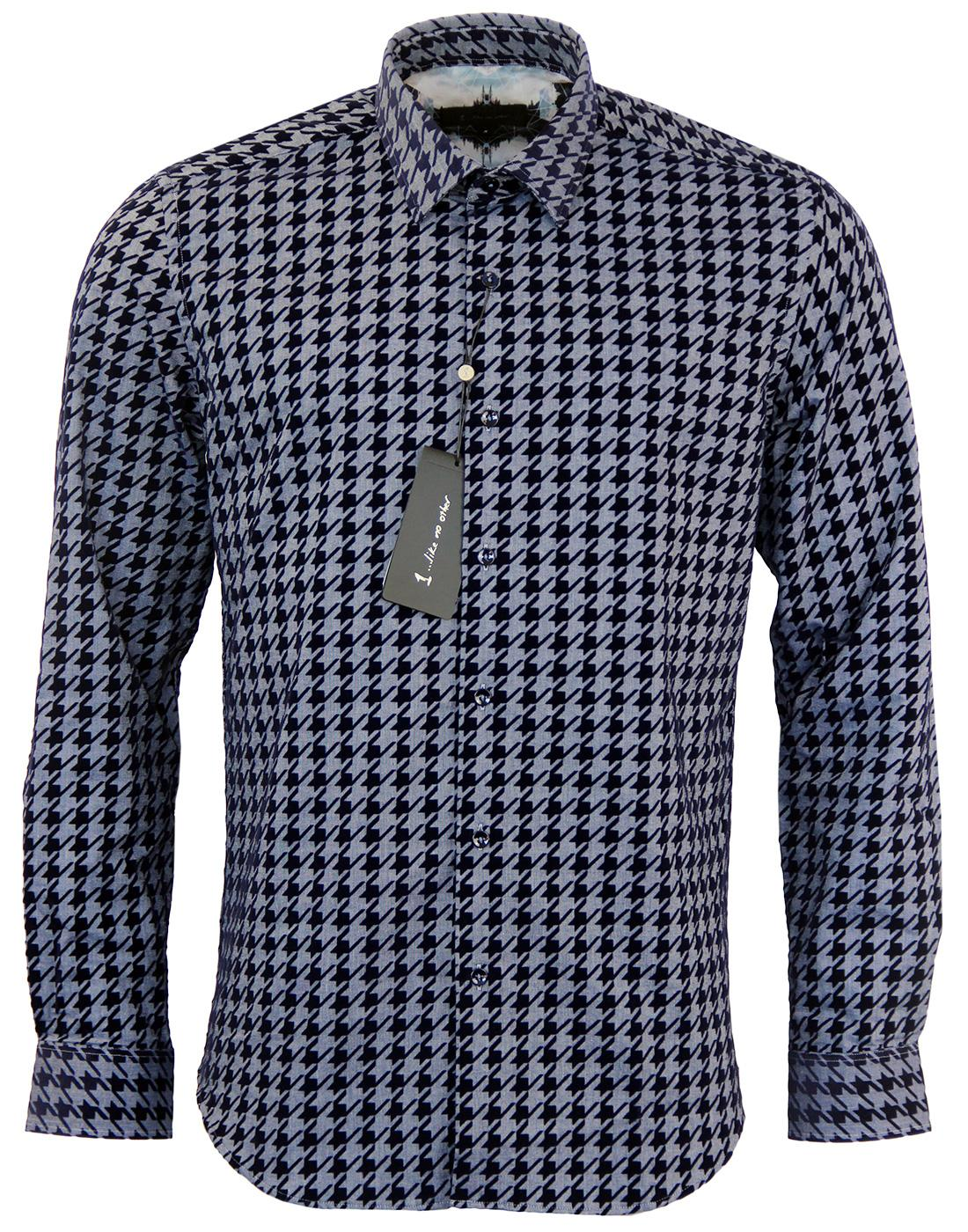 Circuit 1 LIKE NO OTHER Mod Dogtooth Flock Shirt