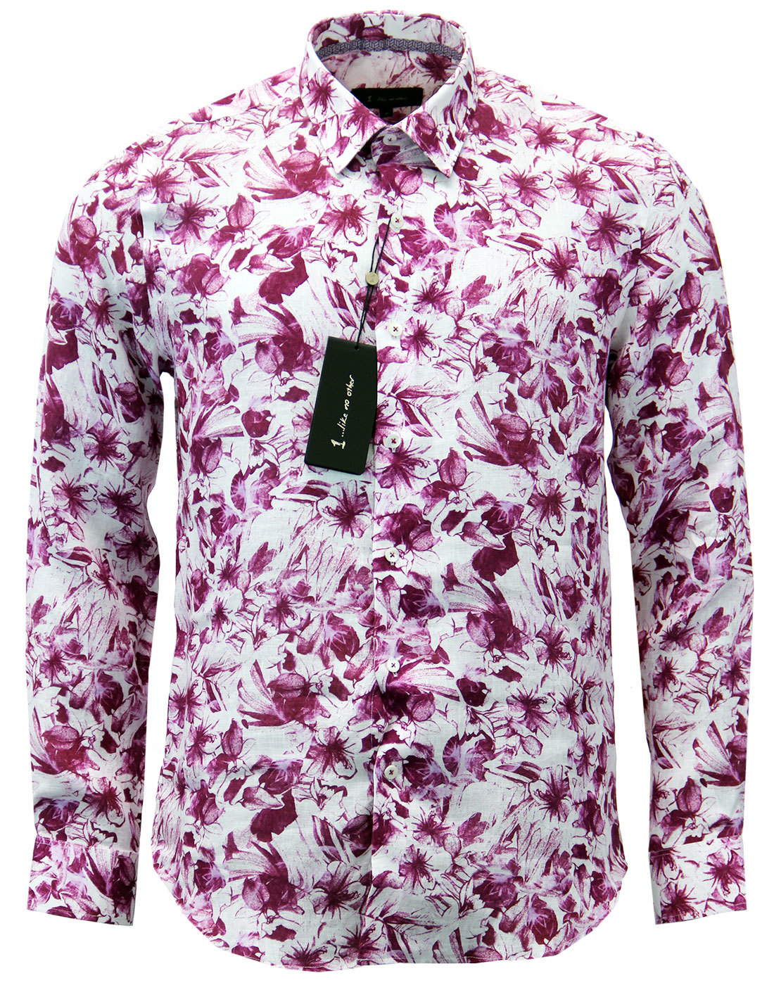 Franz 1 LIKE NO OTHER Retro 70s Floral Linen Shirt