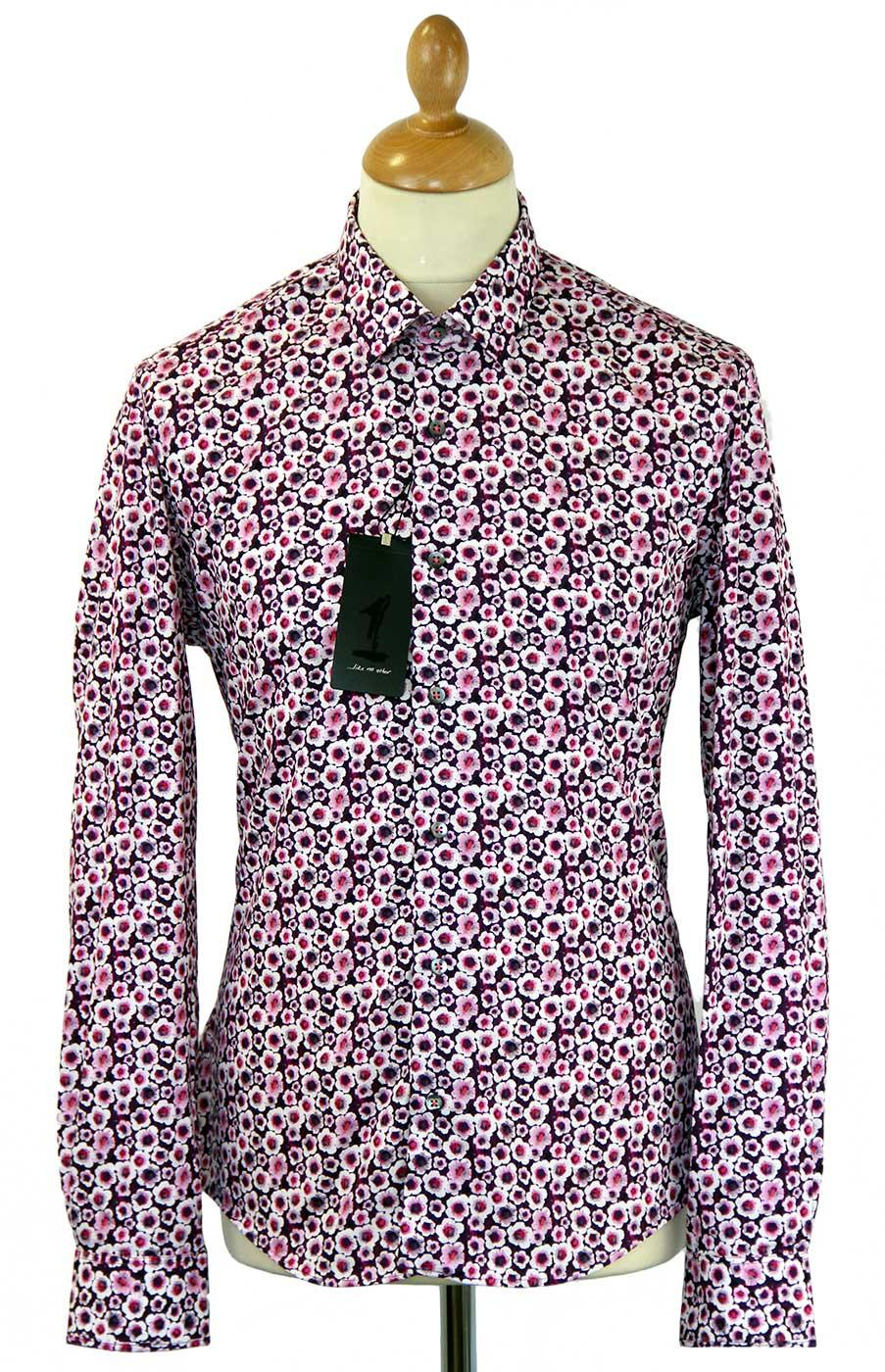 Corms 1 LIKE NO OTHER Retro 60s Floral Print Shirt