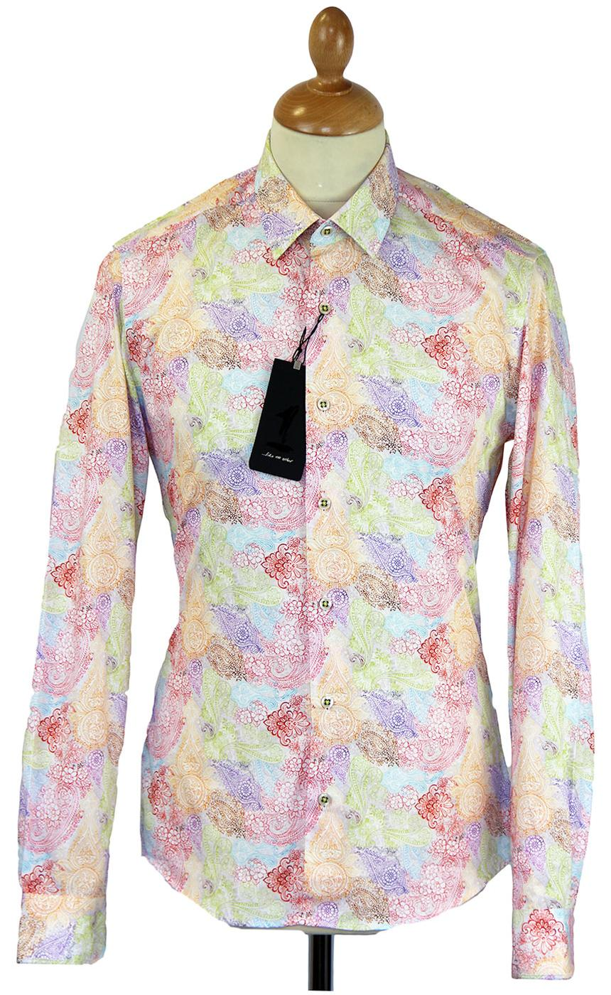 1 like no other vintage paisley retro 60s mod print shirt