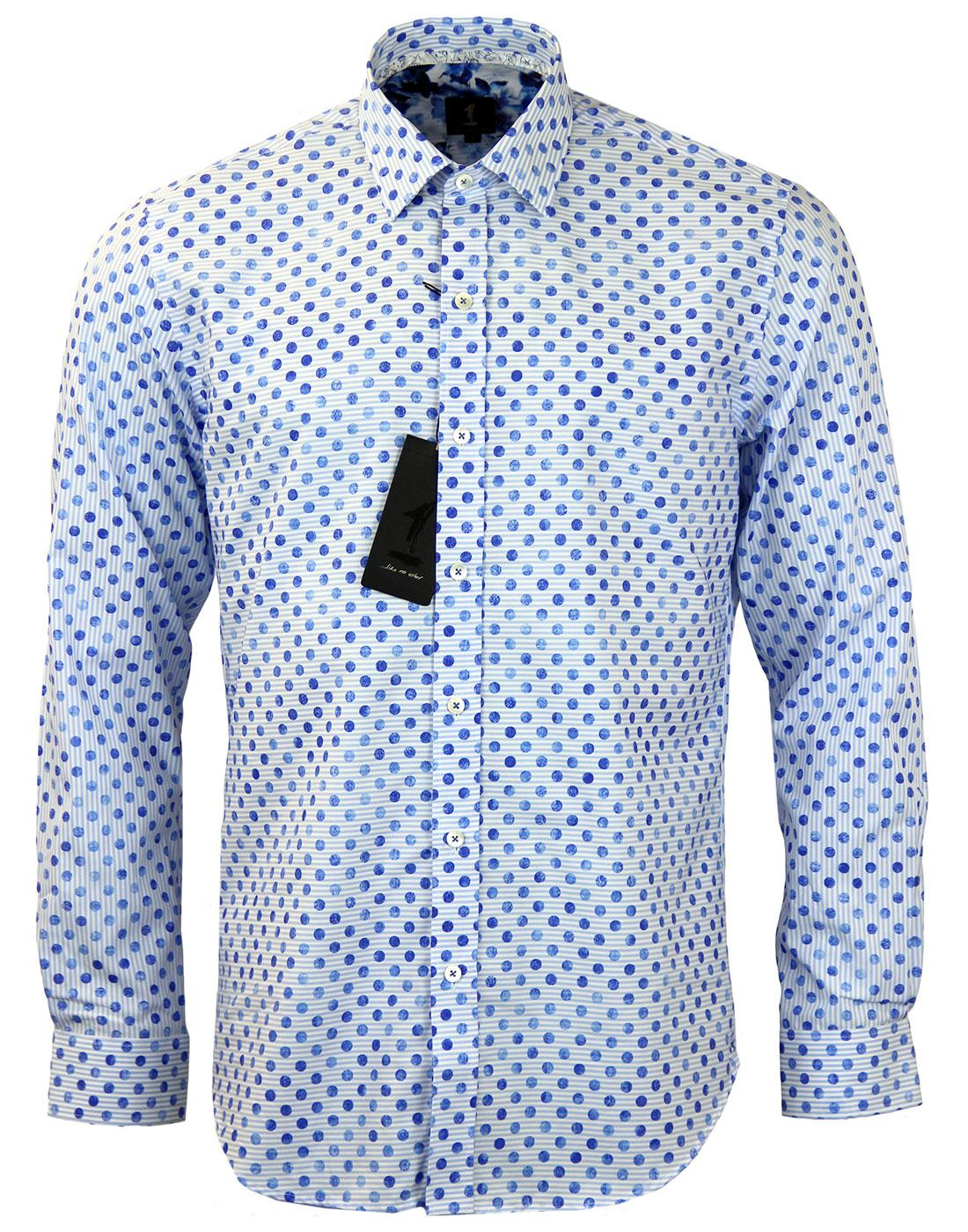 Porrect 1 LIKE NO OTHER Polka Dot on Stripe Shirt