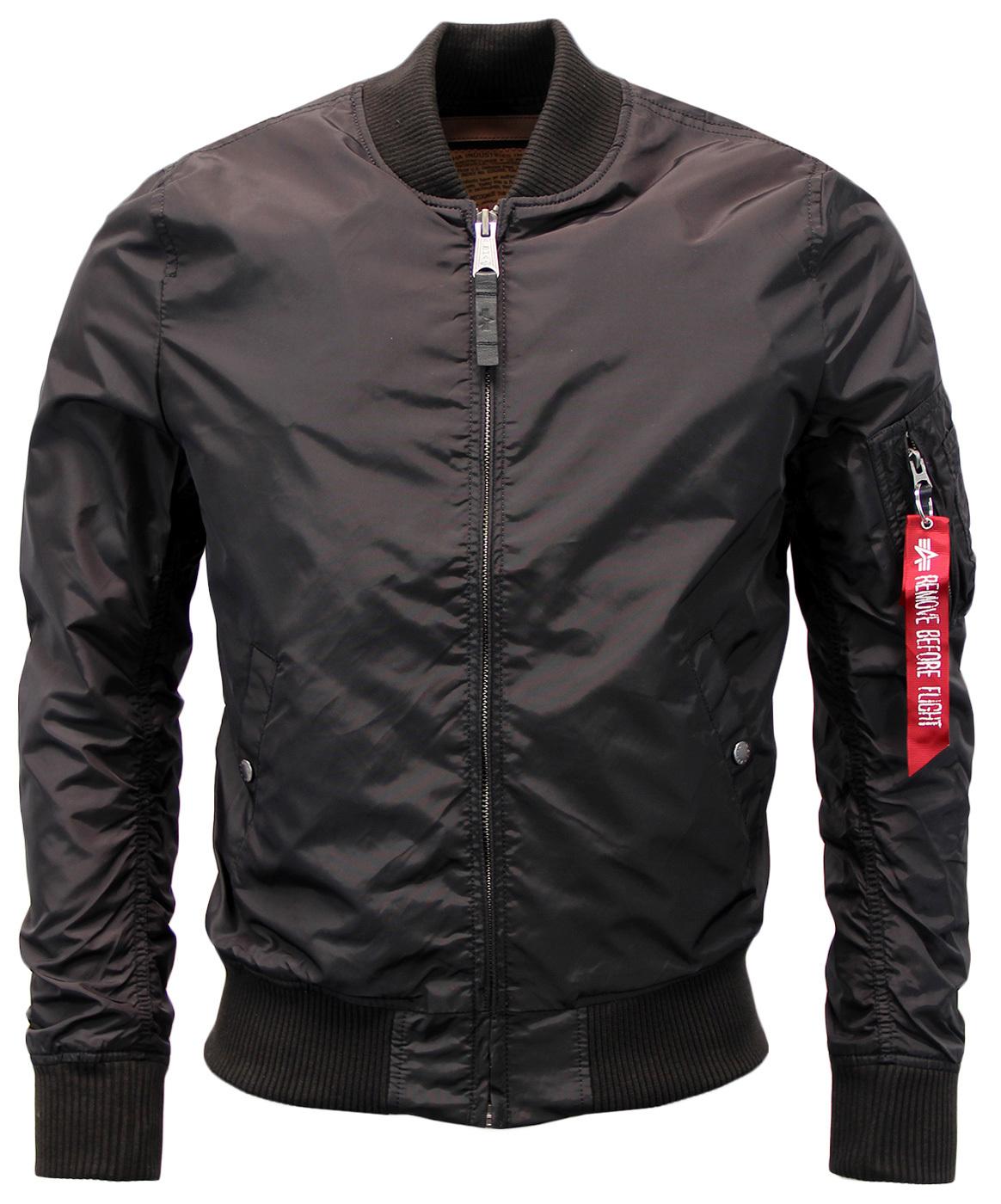 alpha industries ma1 tt retro mod revival bomber jacket black. Black Bedroom Furniture Sets. Home Design Ideas