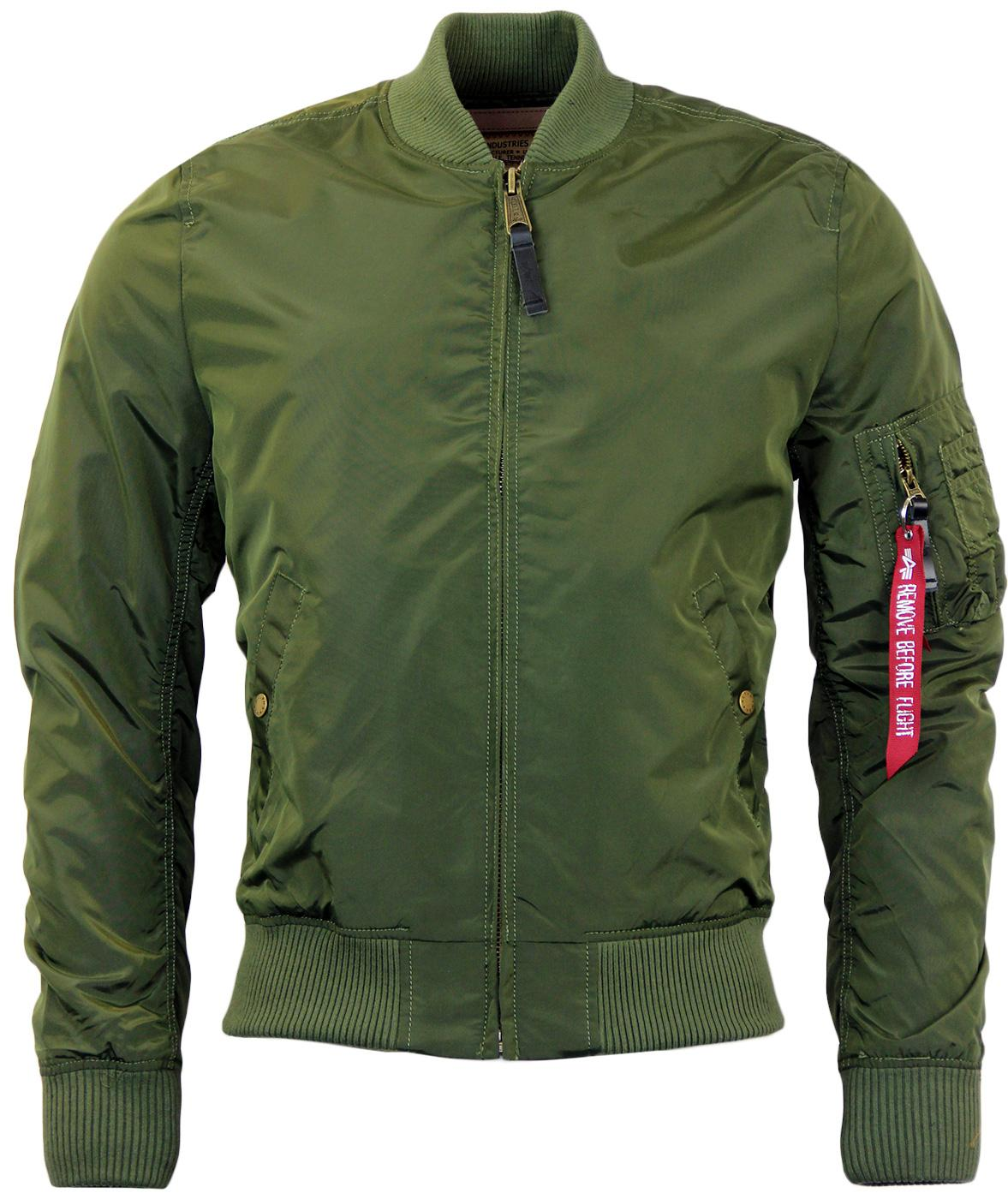 MA1 TT ALPHA INDUSTRIES Retro Mod Bomber Jacket DG