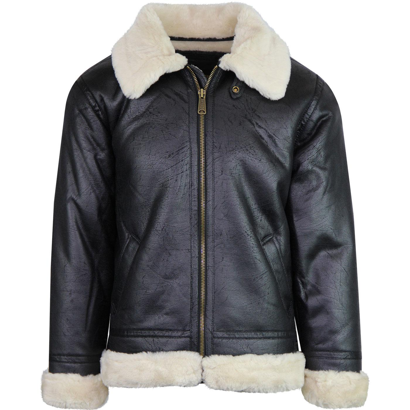 ALPHA INDUSTRIES Faux Leather B3 Flight Jacket Blk