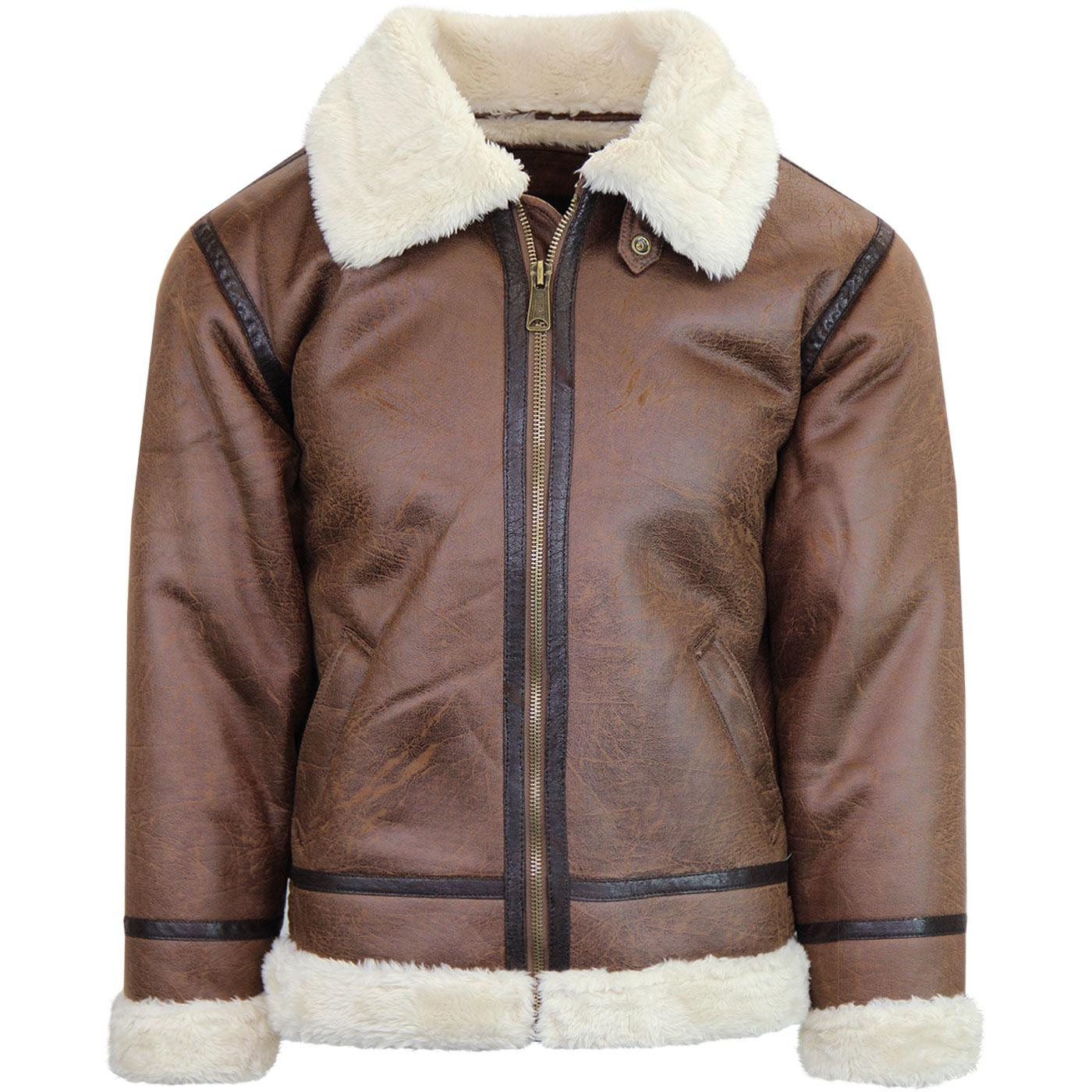 ALPHA INDUSTRIES Faux Leather B3 Flight Jacket Brn