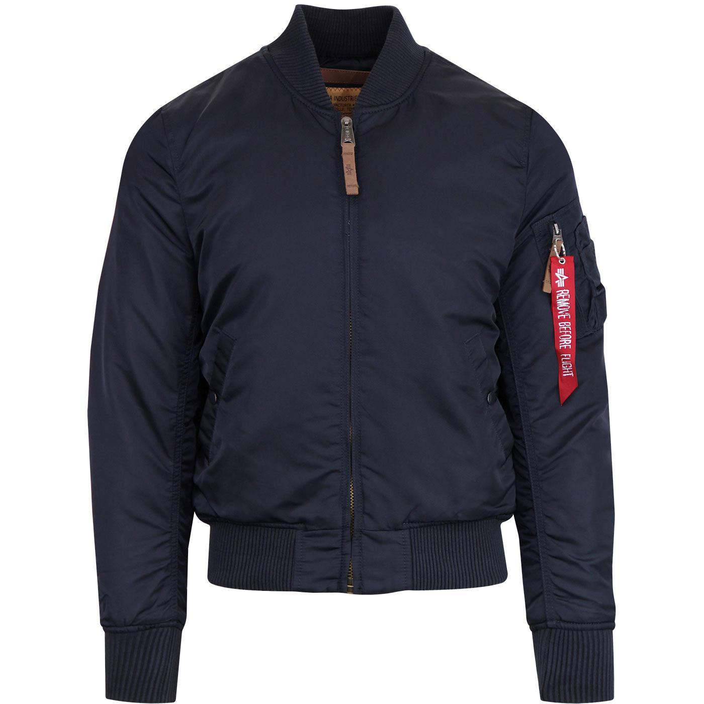 MA1 VF ALPHA INDUSTRIES Mod Bomber Jacket in Navy