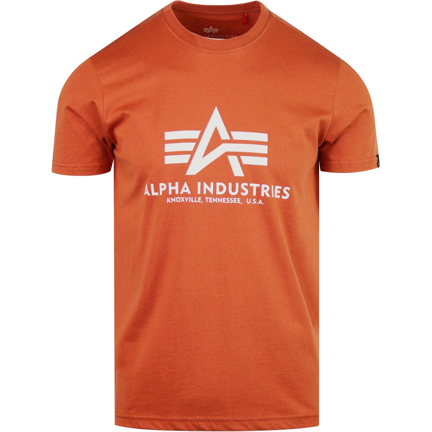 ALPHA INDUSTRIES Retro Basic Logo Tee Copper