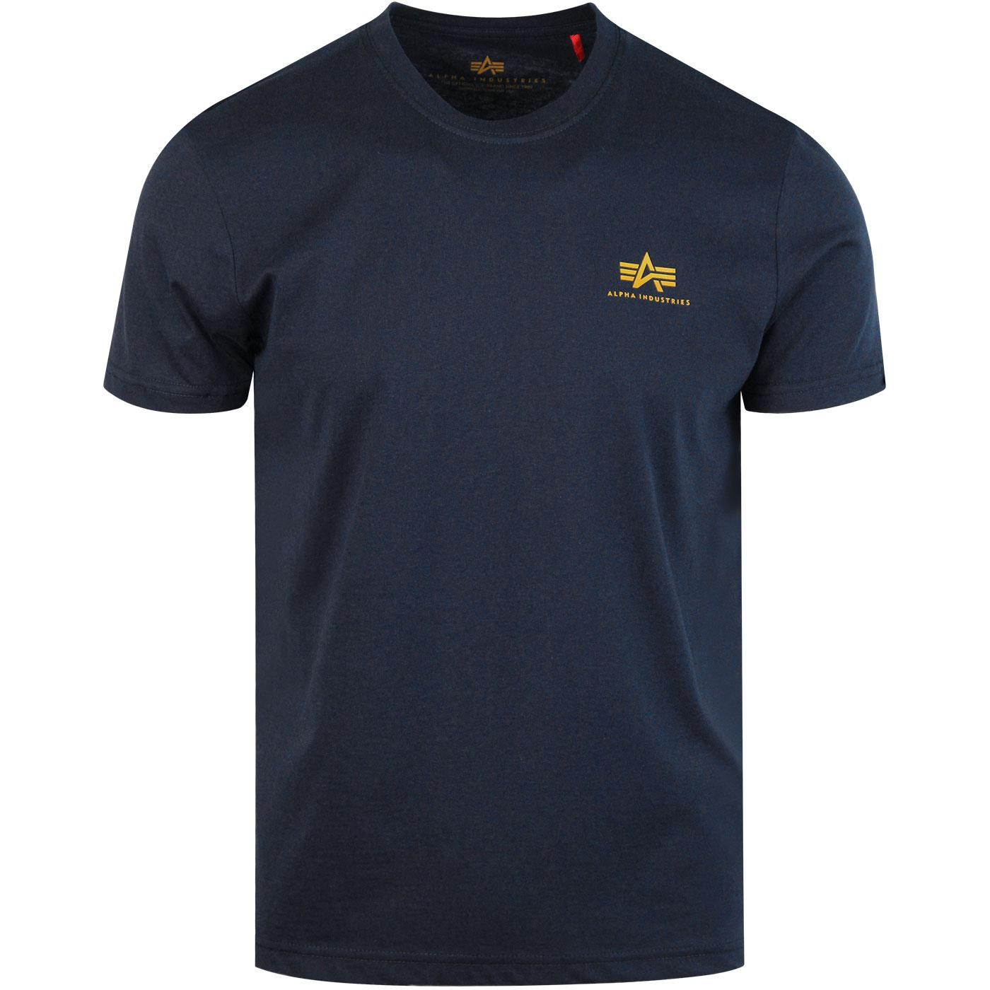 ALPHA INDUSTRIES Basic Small Logo Tee New Navy