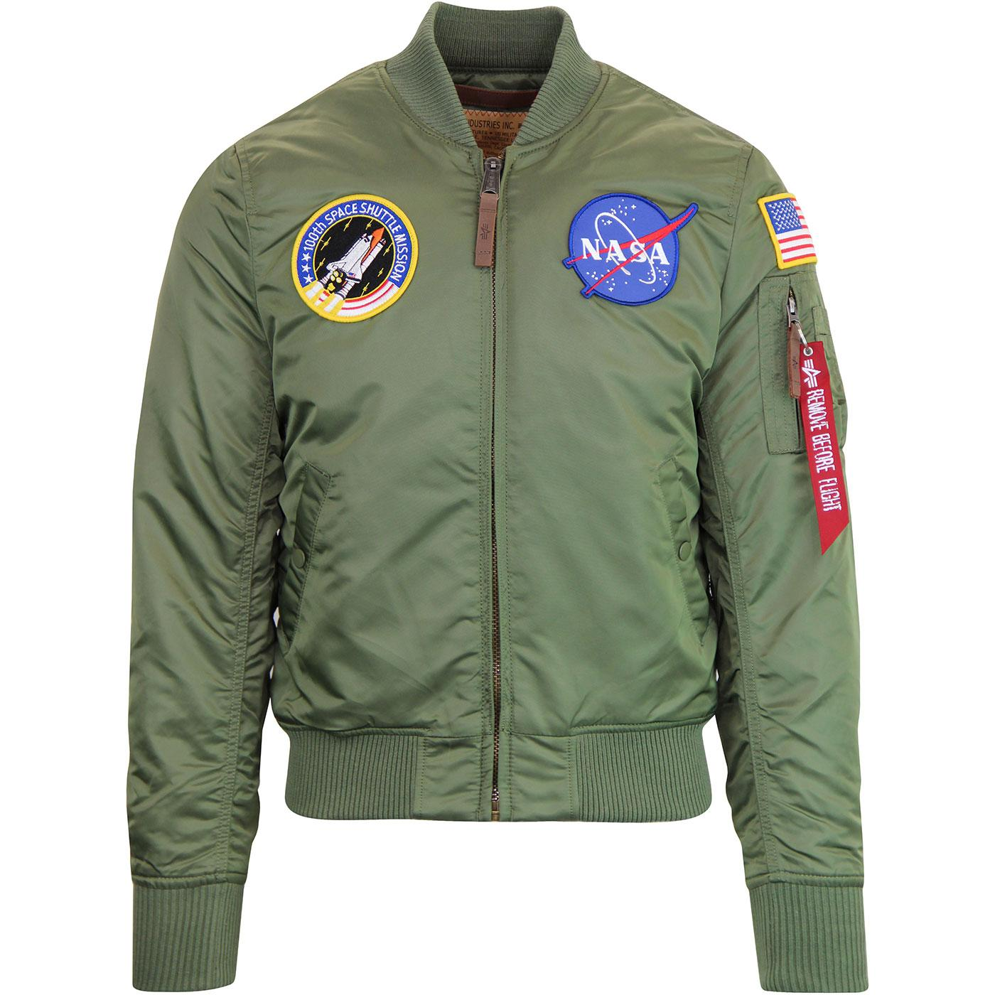Alpha Industries MA-1 VF NASA Bomber Jacket Sage