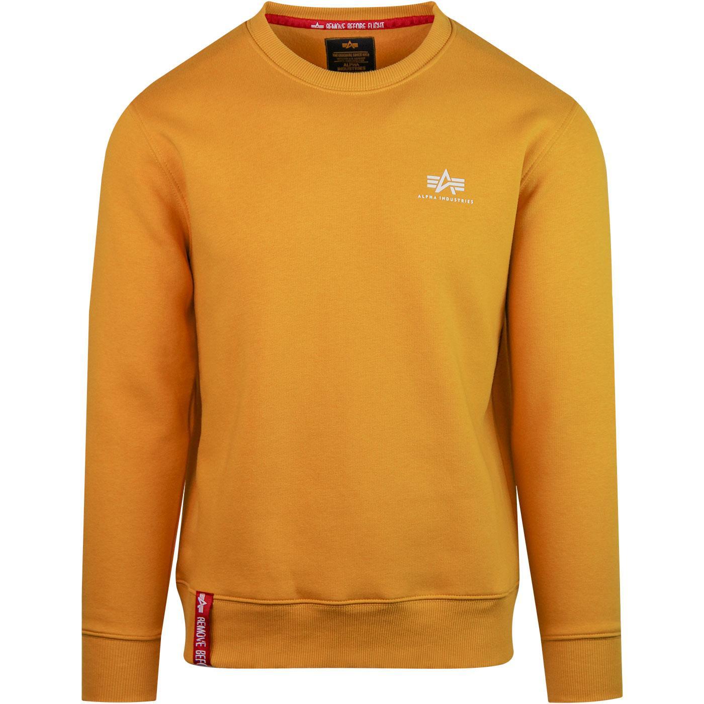 ALPHA INDUSTRIES Basic Small Logo Sweater Wheat