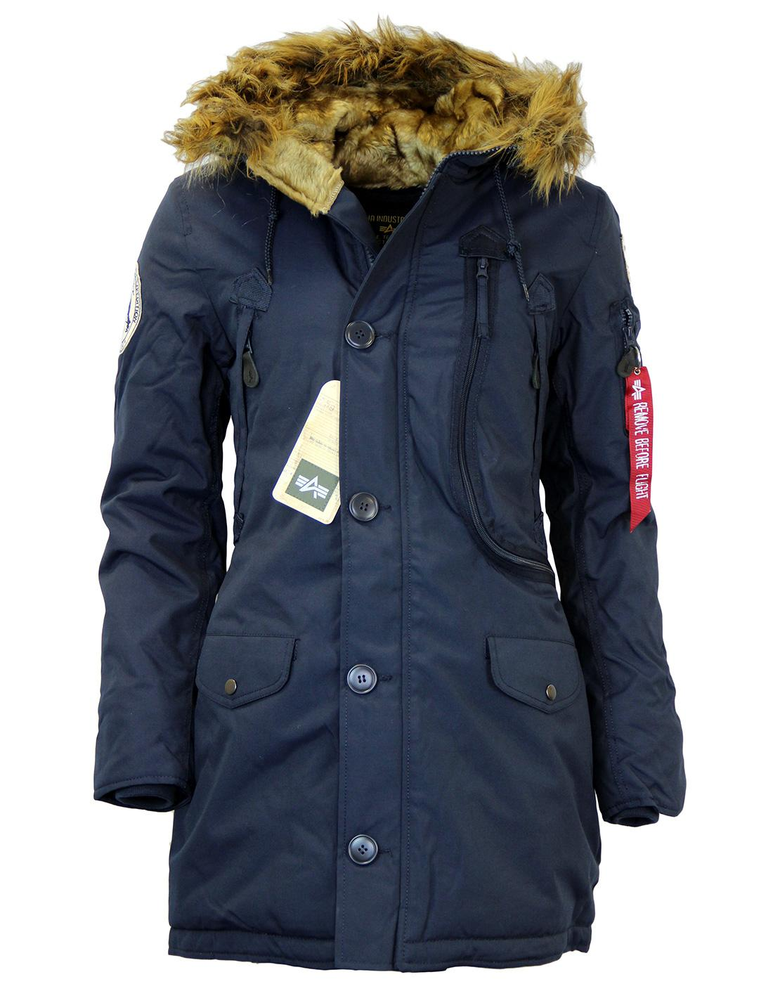 Polar ALPHA INDUSTRIES Retro Mod Womens Parka (RB)