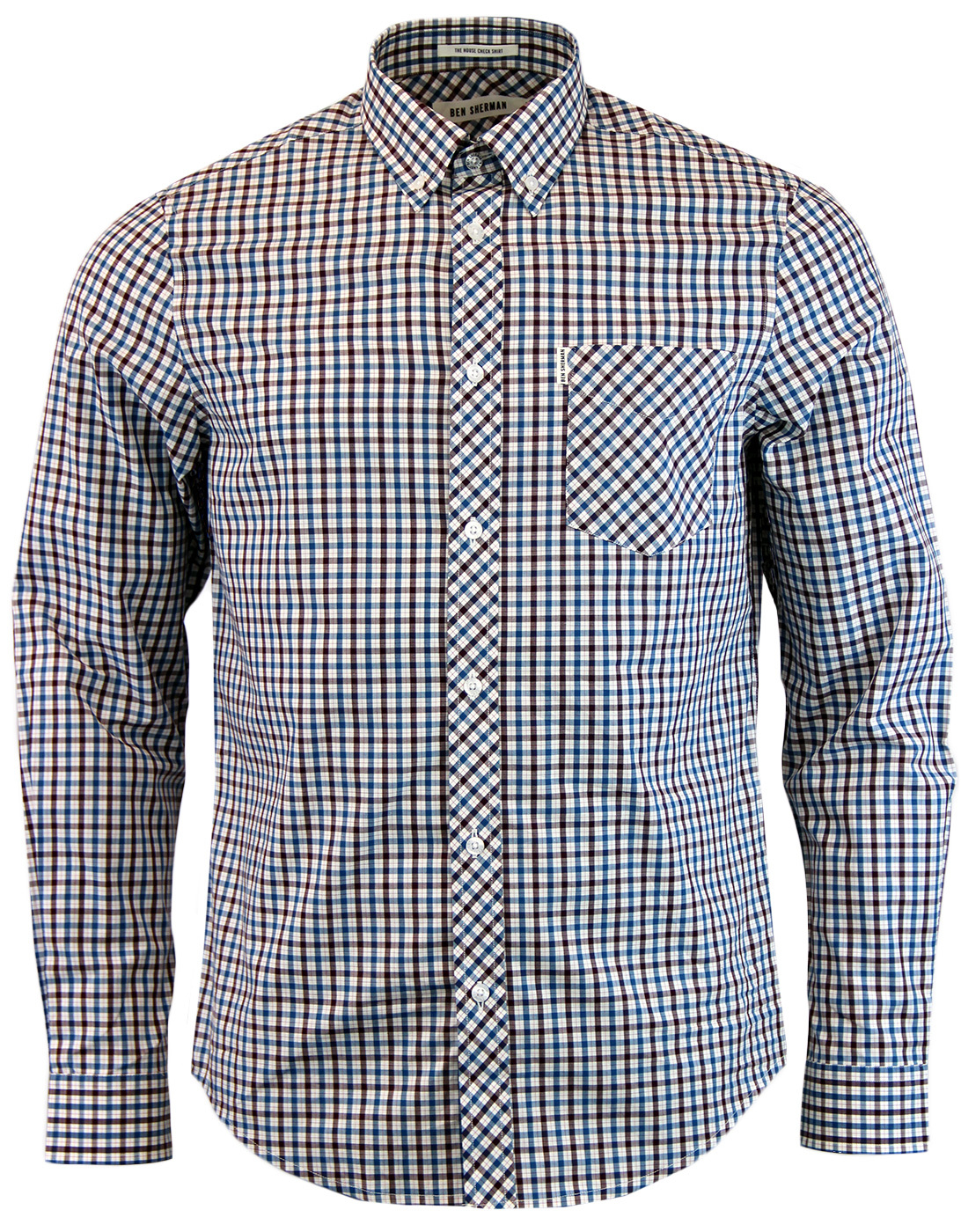 Ben Sherman 60s Mod Heritage House Check Shirt In Blue