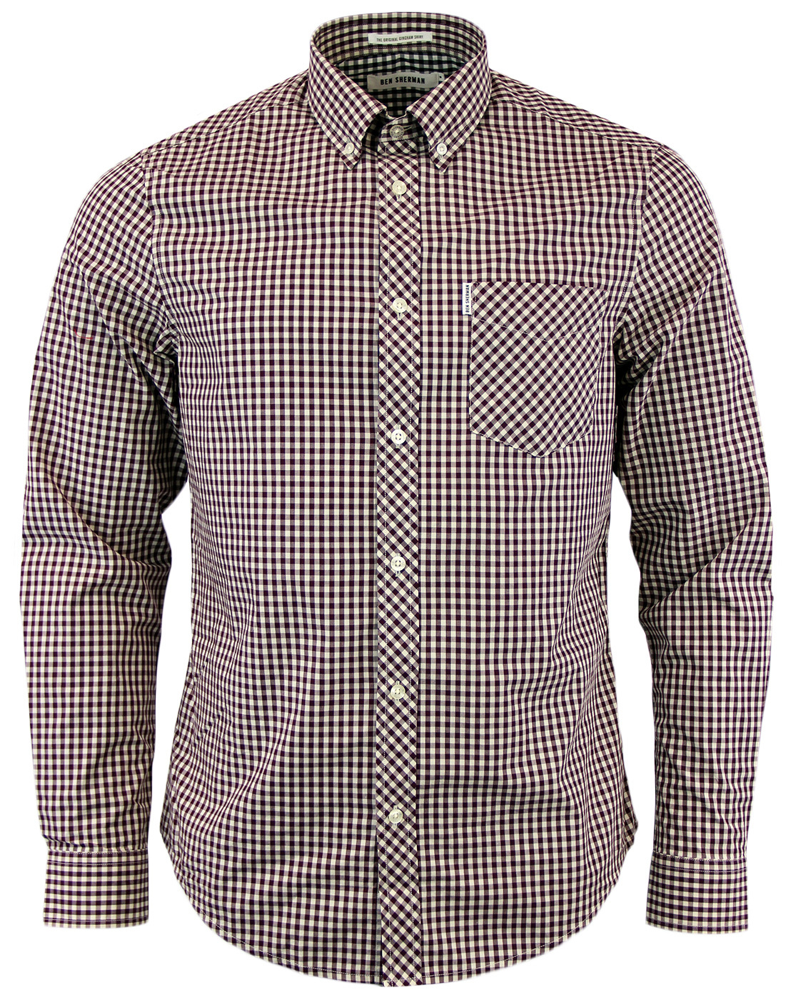 Gingham Shirt BEN SHERMAN Retro Mod 60s Mens Shirt