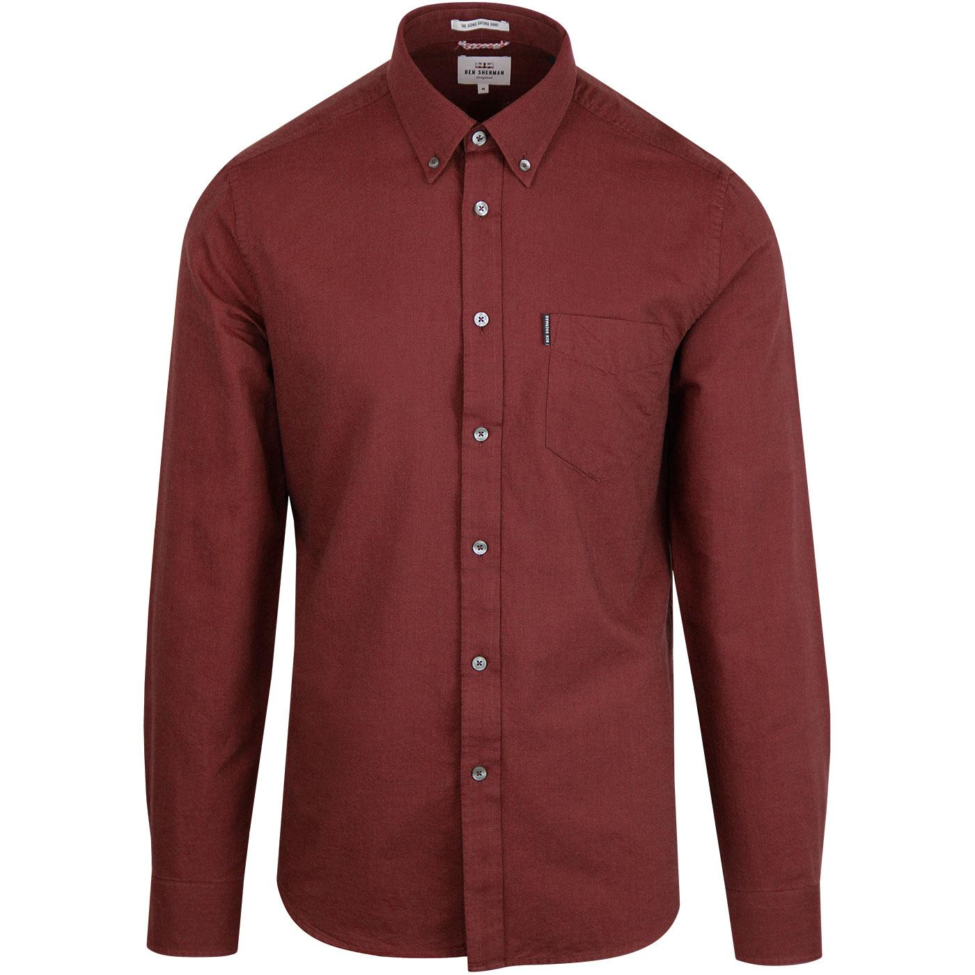 BEN SHERMAN Mod Button Down Oxford Shirt (Rose)