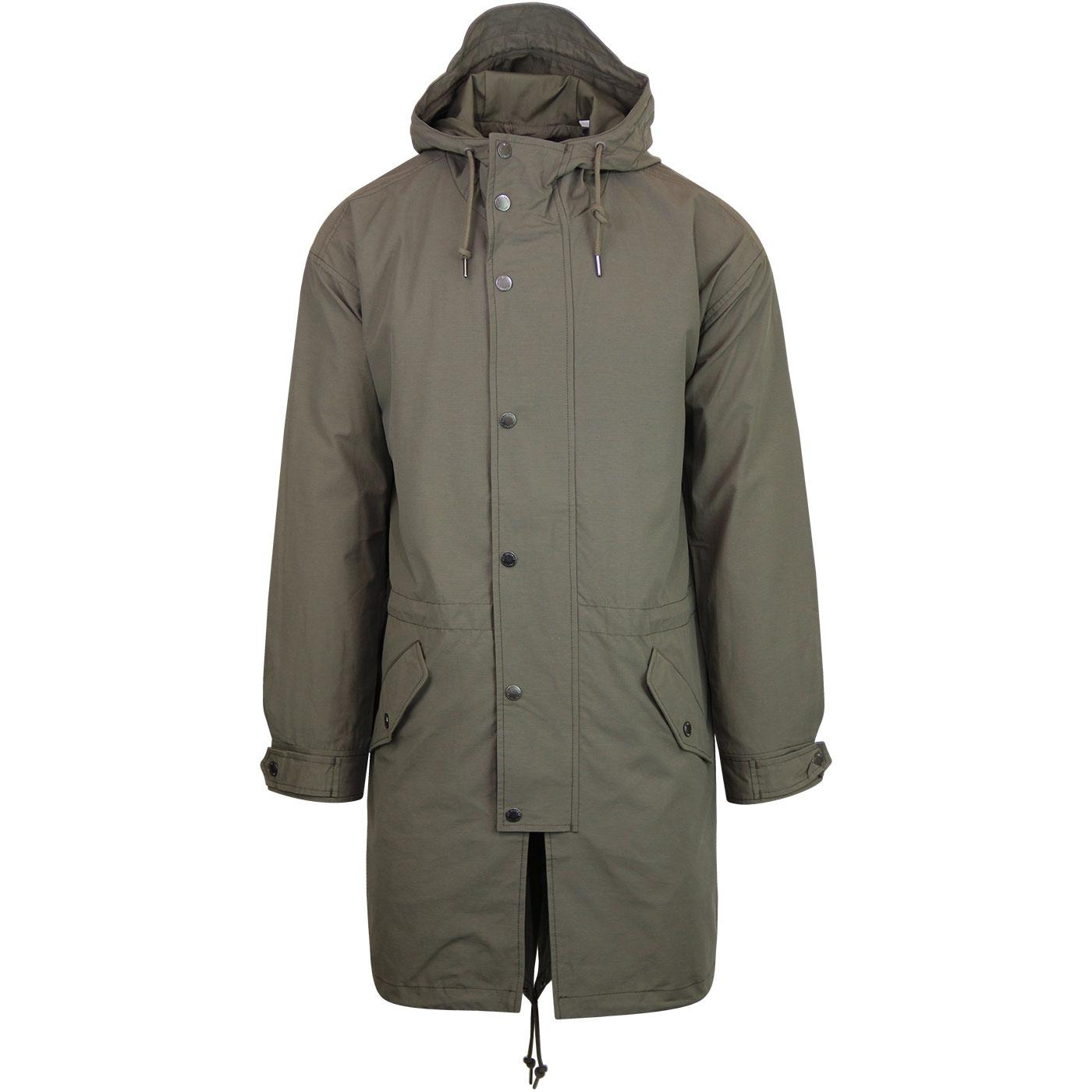 Ben Sherman Mens Short Parka Jacket