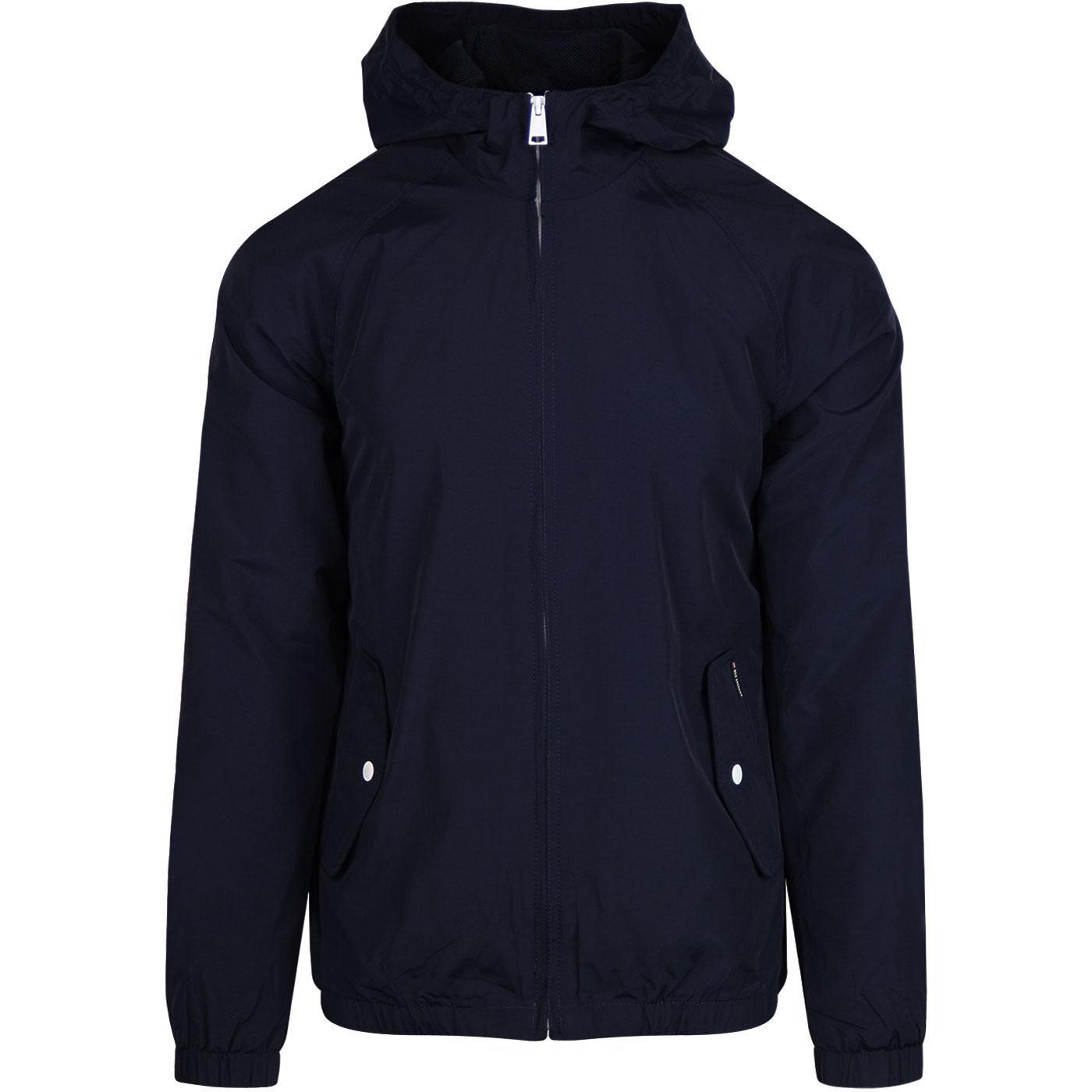 BEN SHERMAN Retro 70s Hooded Anorak Jacket (Navy)